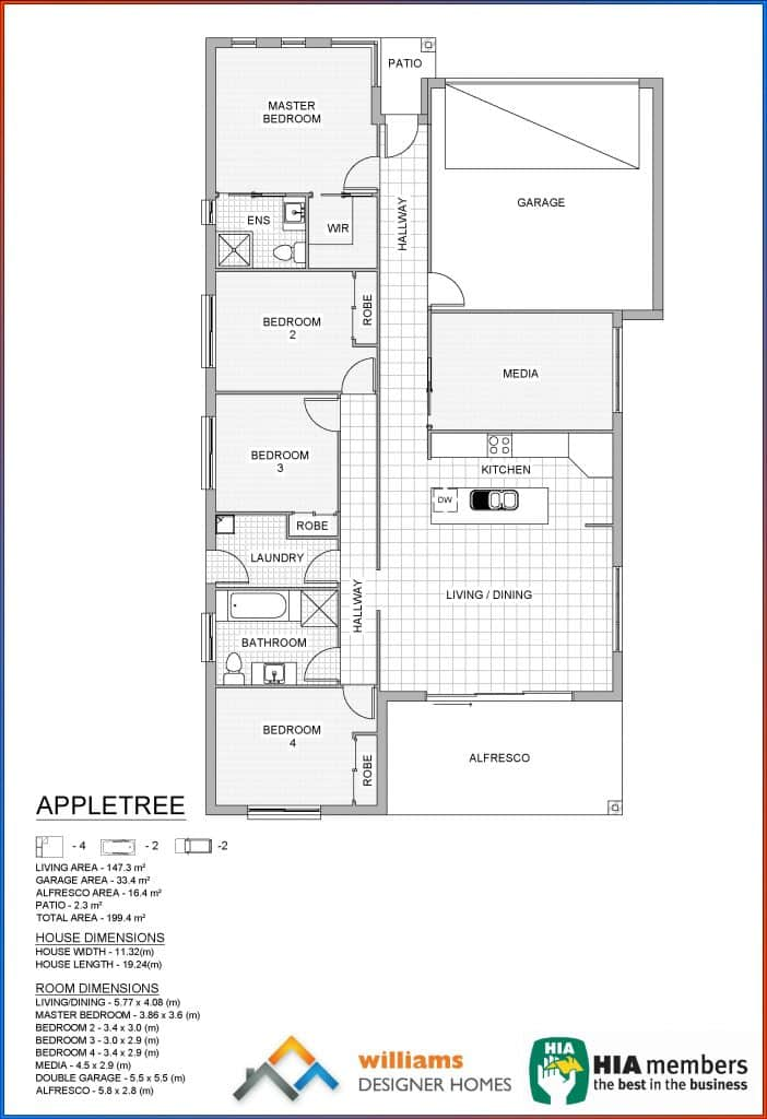 appletree house blueprint, Designer Homes, first home buyers