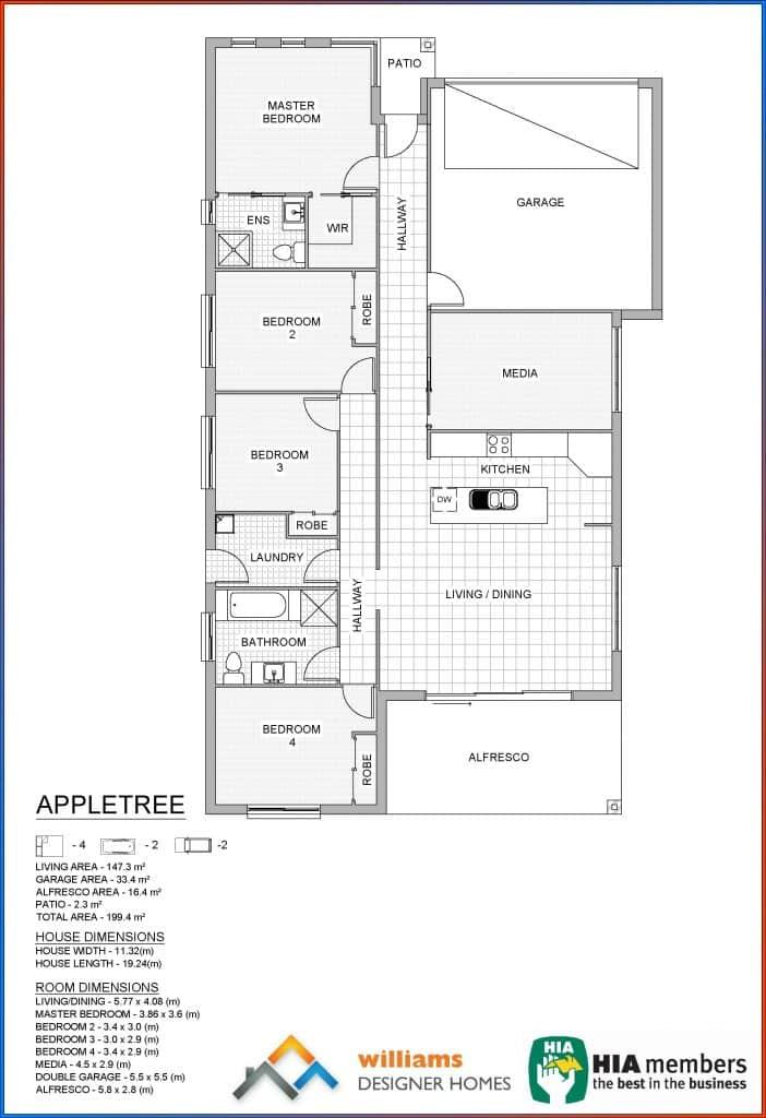 appletree house blueprint