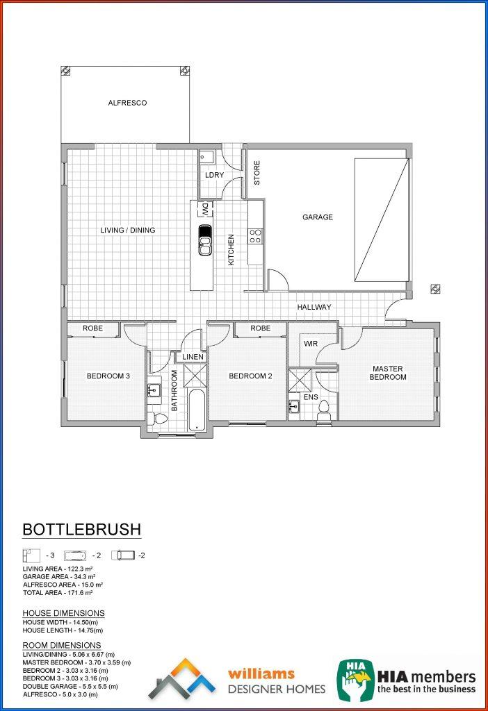 bottlebrush house blueprint