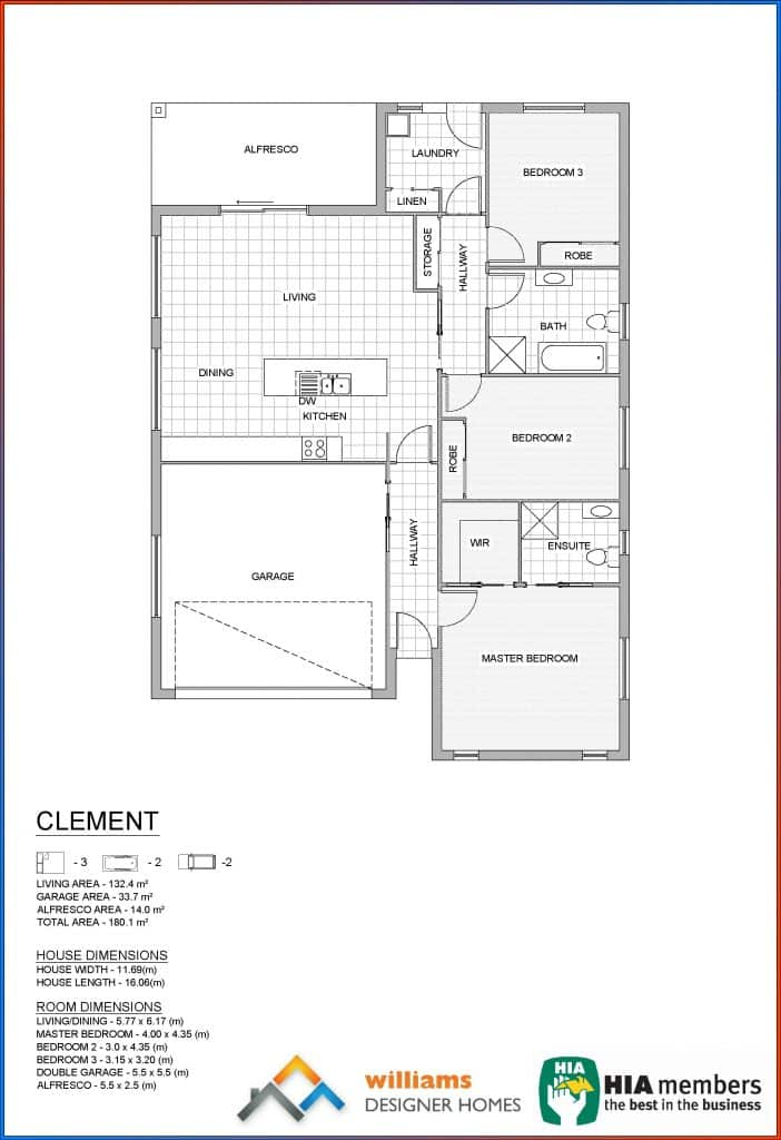 clement house blueprint, Designer Homes, first home buyers