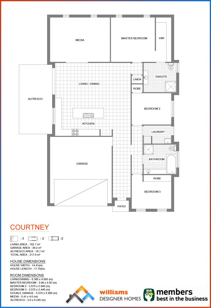 courtney house blueprint, Designer Homes, first home buyers
