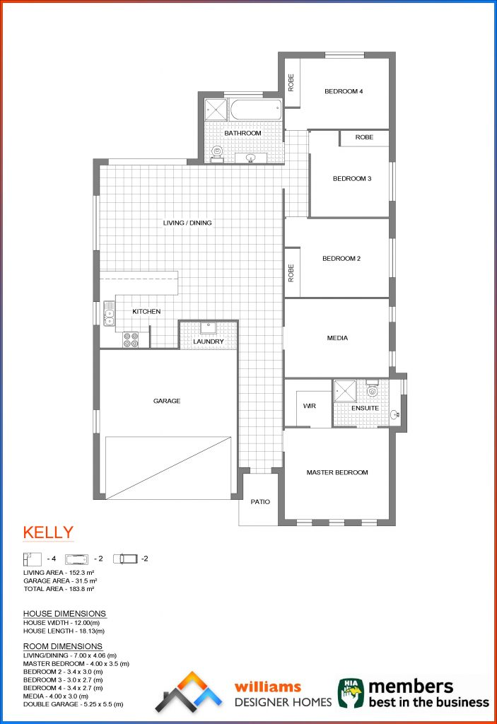 kelly house blueprint, Designer Homes, first home buyers