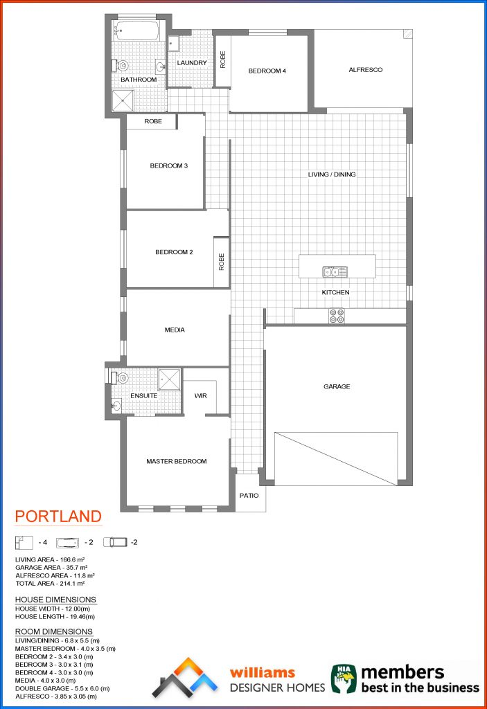 portland house blueprint, Designer Homes, first home buyers