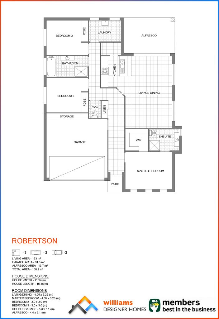 robertson house blueprint, Designer Homes, first home buyers